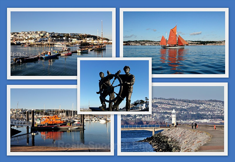 BX02 - The Man and Boy Statue and Brixham Views - Greetings Cards Brixham and Kingswear