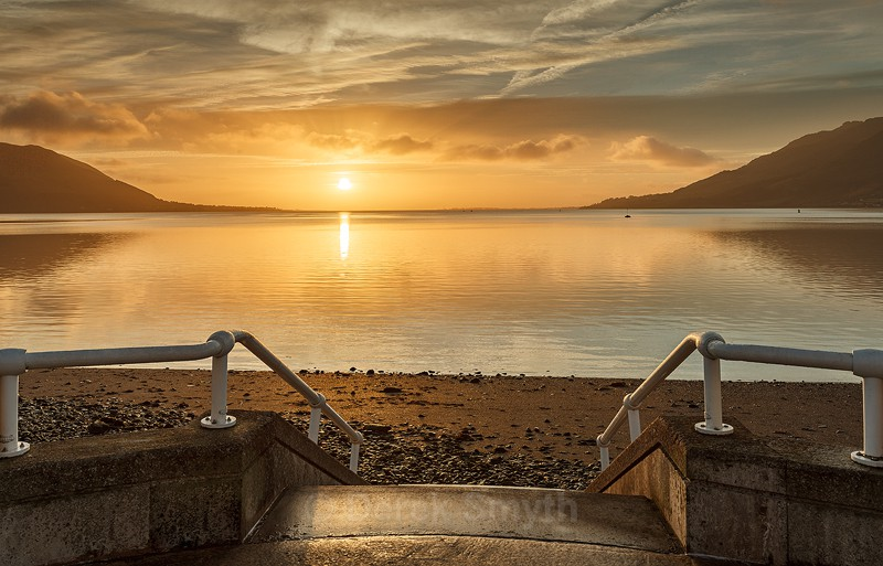 Peaceful Sunrise Over Carlingford Lough