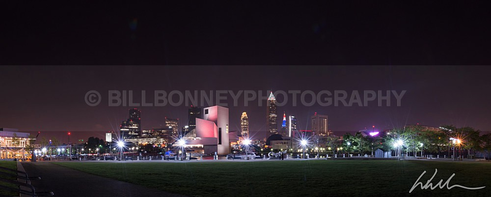 ClevelandSkylineNightPanoramic - Landscapes...