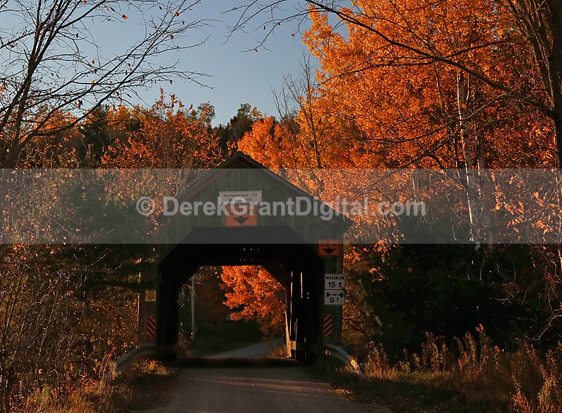 Malone Covered Bridge Kennebecasis River No. 23 Kings County NB Canada - Covered Bridges of New Brunswick