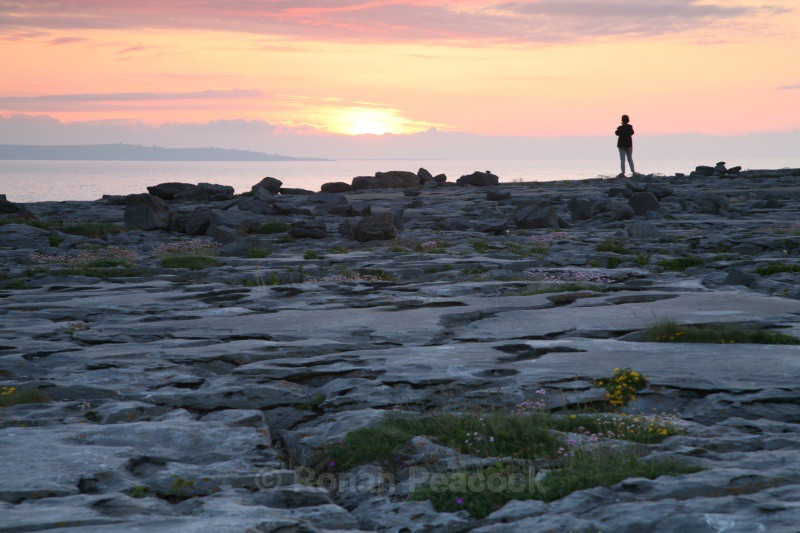Sunset over the Aran Islands - West of Ireland