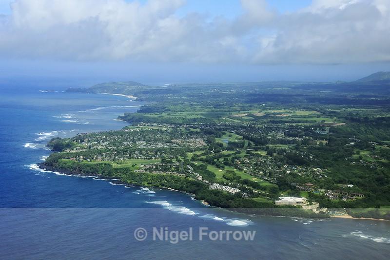Aerial view of Princeville, Kauai - Hawaiian Islands, USA
