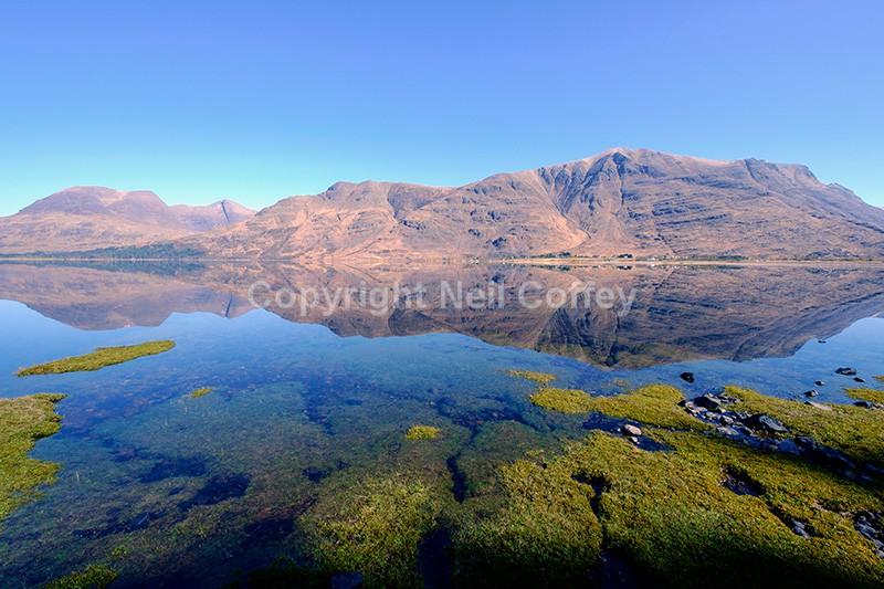 The Torridon range across Upper Loch Torridon, Highland - Landscape format