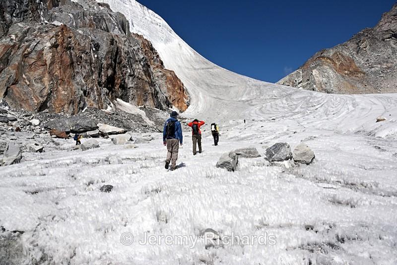 Traversing a Himalayan Glacier - Nepal