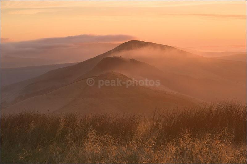 Morning Over Mam Tor - Peak District   White Peak