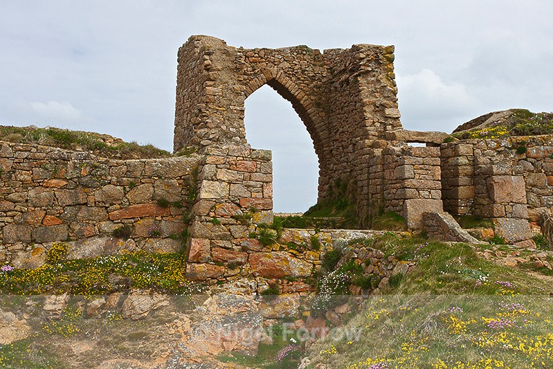 Ruined Archway of Grosnez Castle - Guernsey & Jersey, Channel Islands
