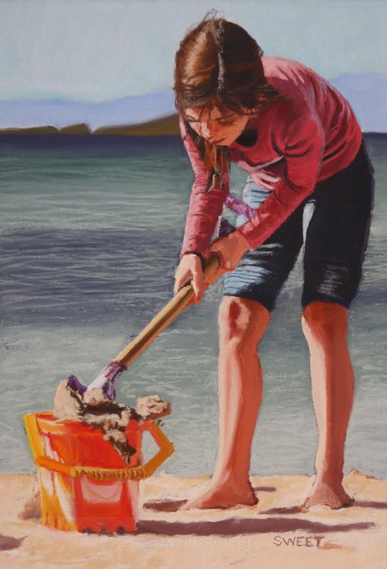Orange Bucket - Paintings