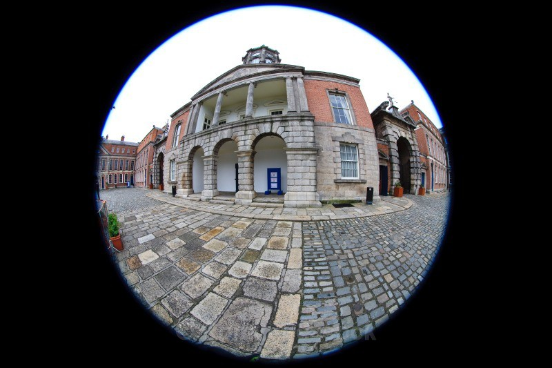 Bedford Tower - Dublin - through a fisheye lens