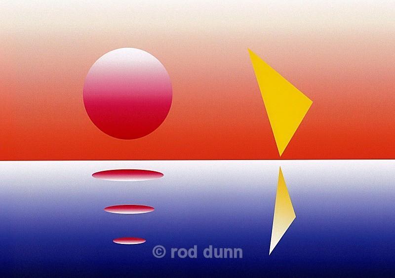 sunset and windsurfer - art images