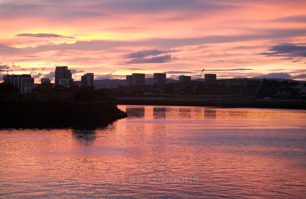 clyde sunset - Glasgow
