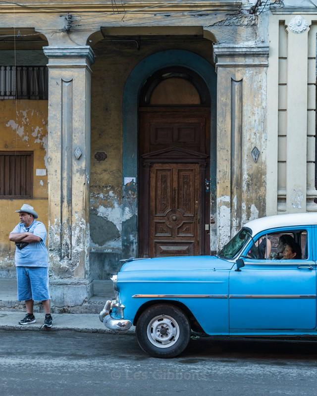 blue car - Cuba