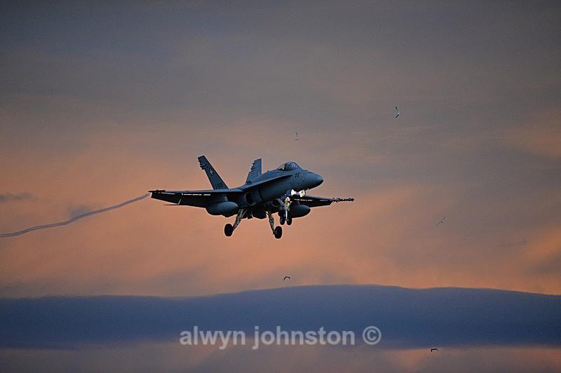 F-18 C 10 - RAF LOSSIEMOUTH VISIT NOV 2017