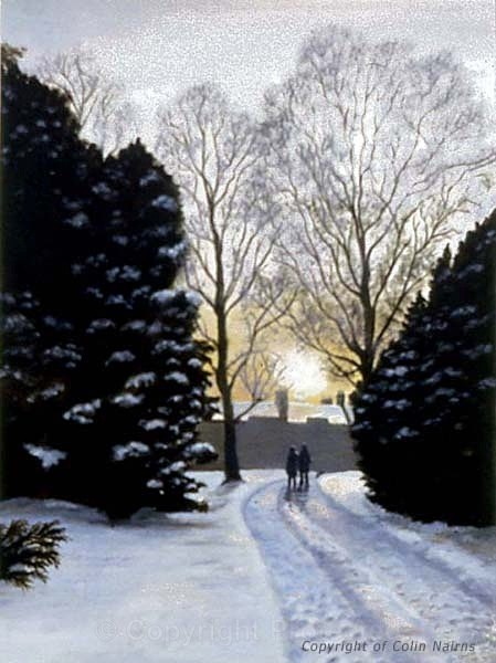 'Botanical Gardens, Edinburgh' - 'Winter Walk' - Edinburgh Paintings