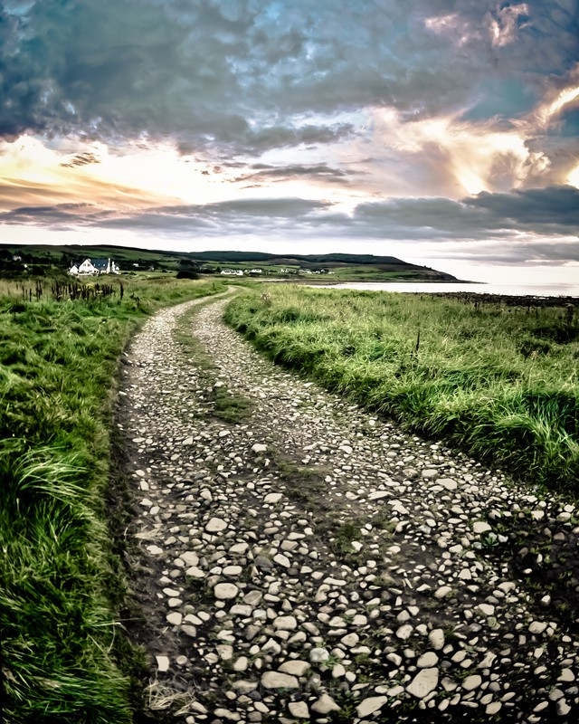 Arran pathway. - The outdoors