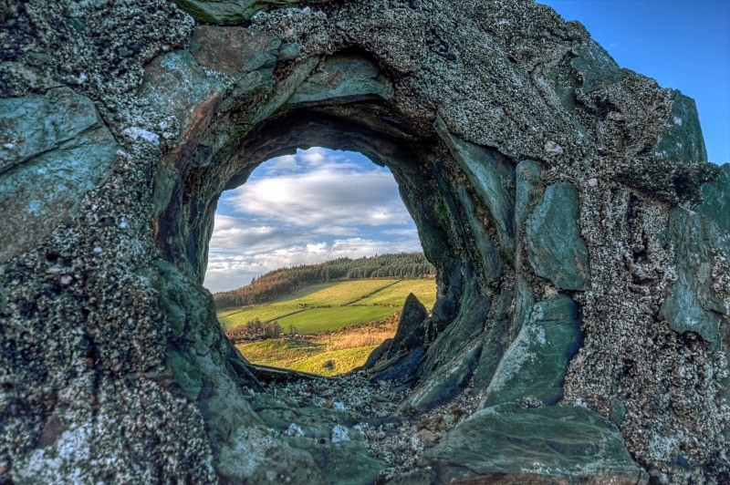Through a fallen chimney - Life on Man