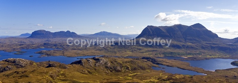 Suilven, Canisp & Cul Mor, Inverpolly, Highland - Panoramic format