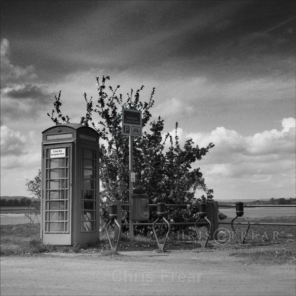 The Village Phonebox - Black & White
