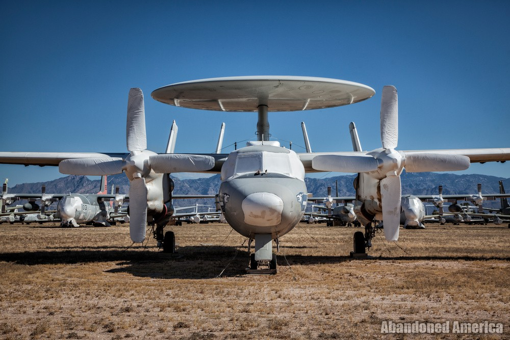 Grumman E-2C Hawkeye at AMARG Aerospace Reclamation and Maintenance Group, Tucson AZ - Matthew Christopher Murray's Abandoned America