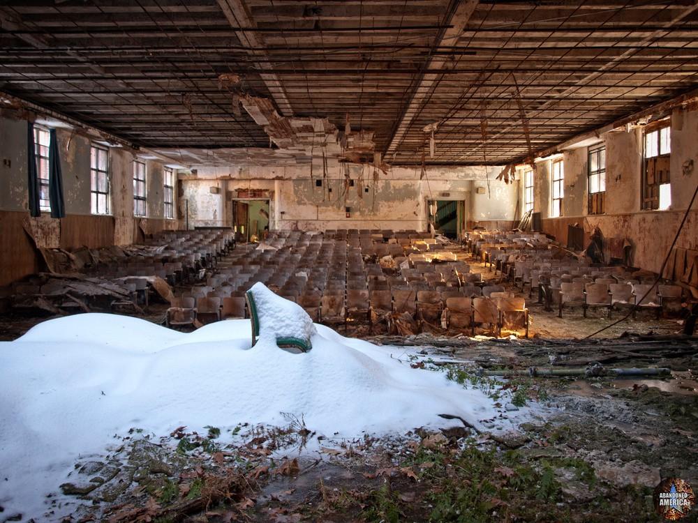 Undercliff Sanatorium (Meriden, CT) | Snowy Auditorium Chair - Undercliff Sanatorium