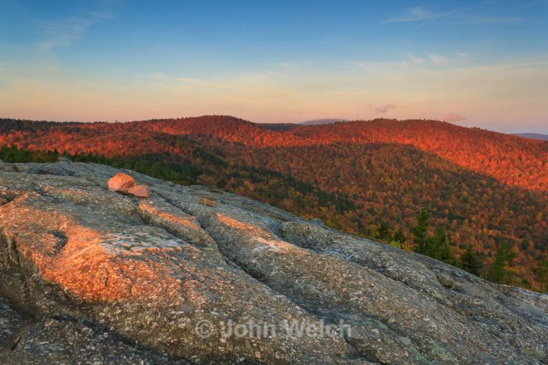 Magenta Morning on Mt. Major - Fall Foliage Season Transitions