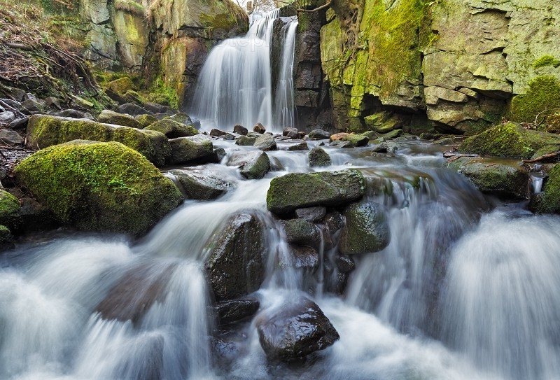 Lumsdale Falls | Upper Lumsdale | Peak District waterfalls