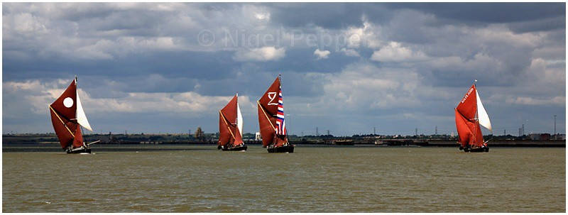 Four Barges - The Thames Barge Match