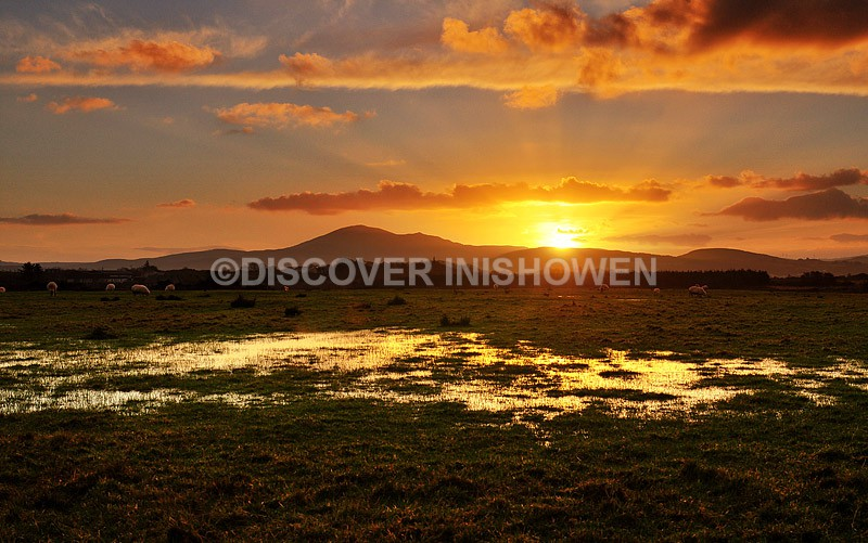 Sunset at Templemoyle - Nature