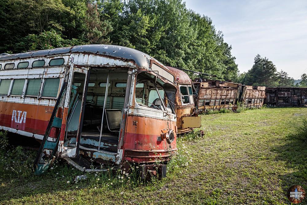 Trolley Graveyard   RTA Line Trolley - The Trolley Graveyard
