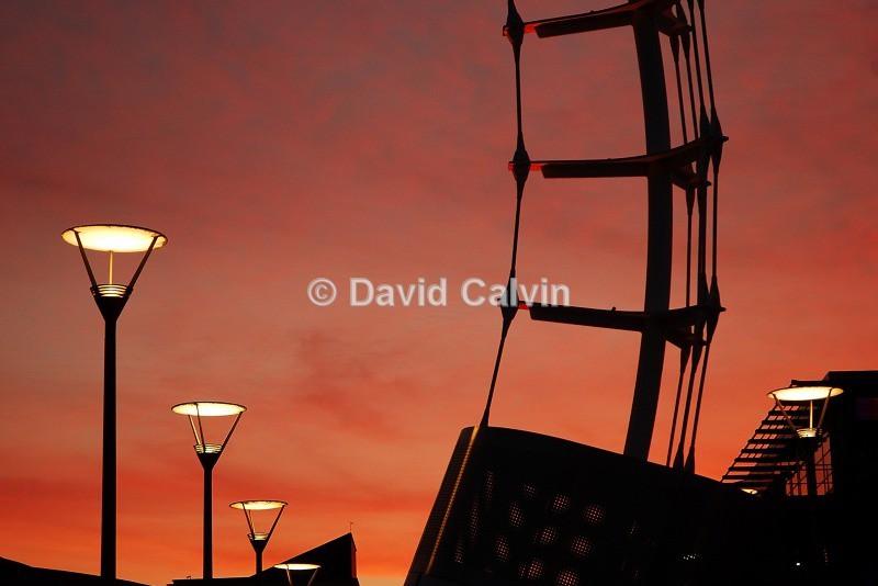Millenium Square Sunset - Bristol Harbourside