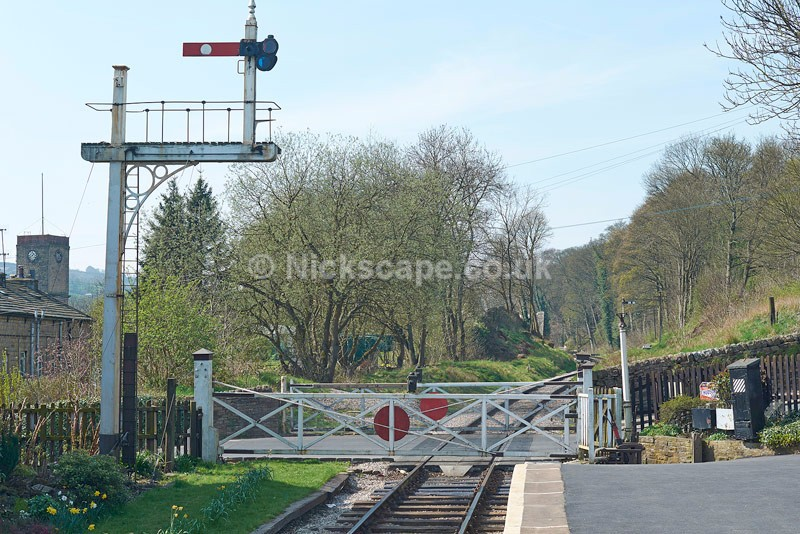 Oakworth Station Level Crossing - Featured in the Railway Children