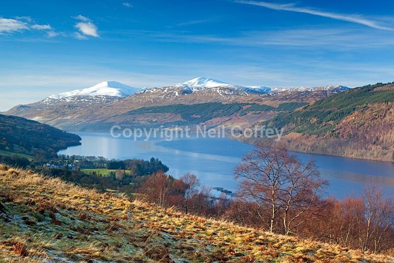 Ben Lawers & Meall Garbh across Loch Tay, Perth & Kinross - Landscape format