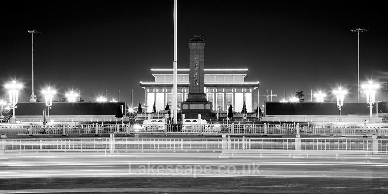 Tiananmen Square_0011_B&W - China