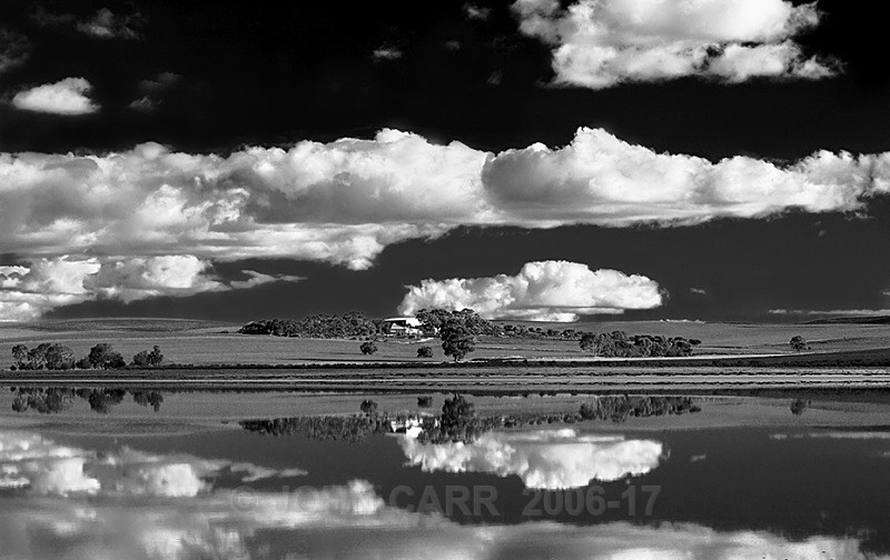 Porter Lagoon Reflections-2 in Mono-7859 - WATER - SALT OR FRESH PHOTOS