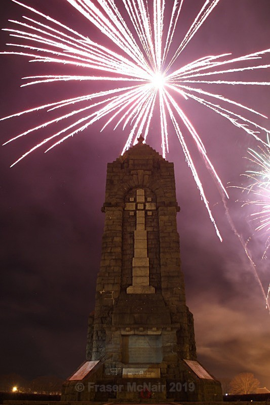 War Memorial Firework 2 - Night Photography