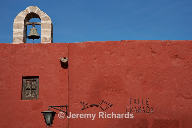 Bell Tower and Red Walls - Peru