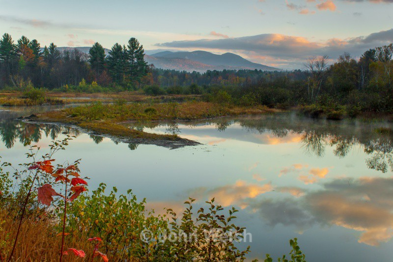 Sunrise at Campton Pond - White Mountain National Forest and Northern New Hampshire