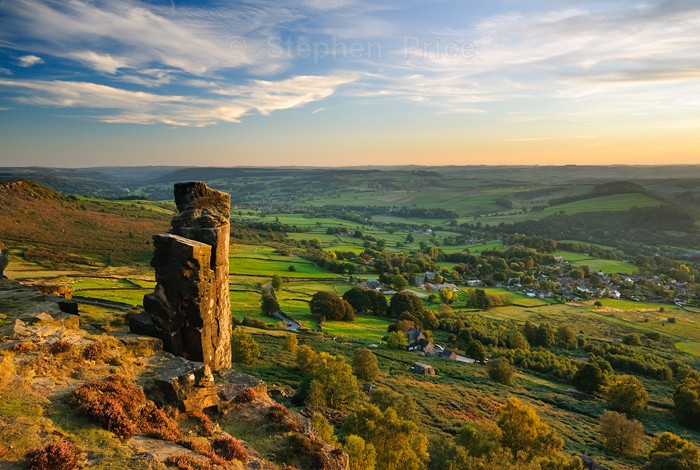 Pinnacle Rock | Sunset Photo Curbar Edge Location