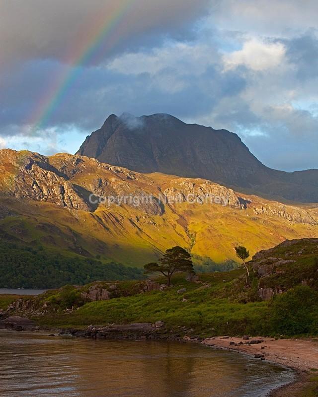 Slioch, Loch Maree, Highland - Portrait format