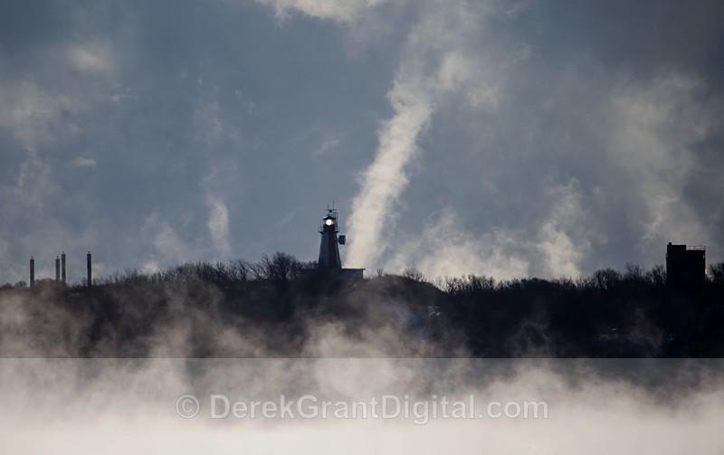 Partridge Island Lighthouse Saint John New Brunswick Canada - Arctic Fog / Sea Smoke