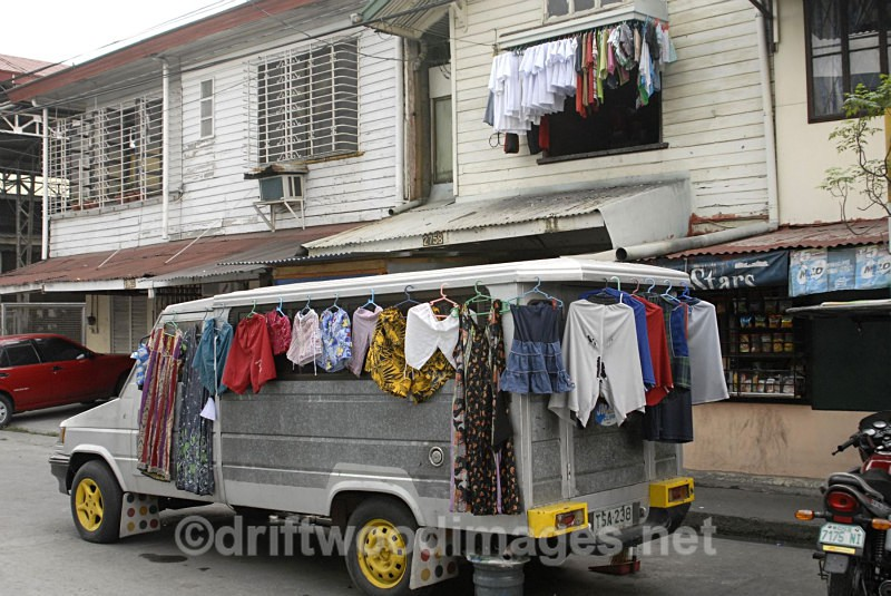 Clothes line Jeepney, Manila, Philippines - South East Asia
