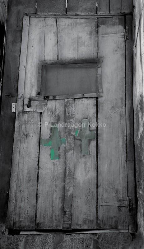 Doorway Jerusalem. Israel - Black & White