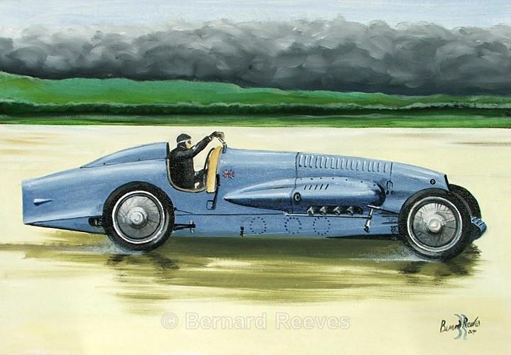 Napier Bluebird 450hp Pendine Sands 1927 - Malcolm Campbell and Bluebird
