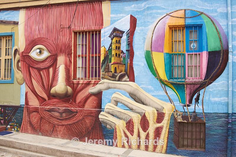 Street Art of Valparaiso - Coastal Chile