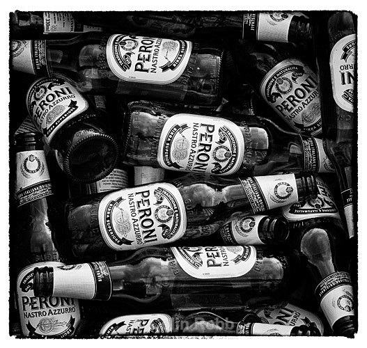 Peroni   beer   bottles   photograph by Colin Robb