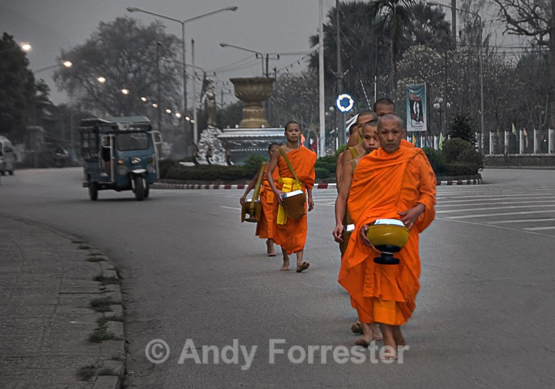 Morning Monks - South East Asia 2010
