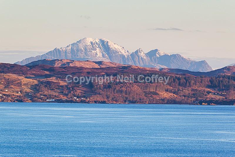 Bla Bheinn & Southern Skye from Mallaig, Highland - Landscape format