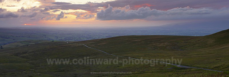 Tailbridge hill Sunset - The Pennines and The Lake District