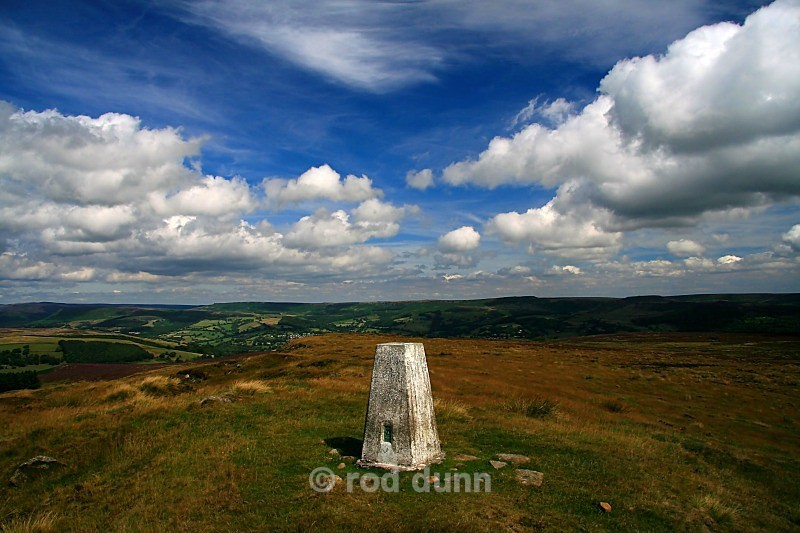 Eyam Moor trig pillar - Peak District