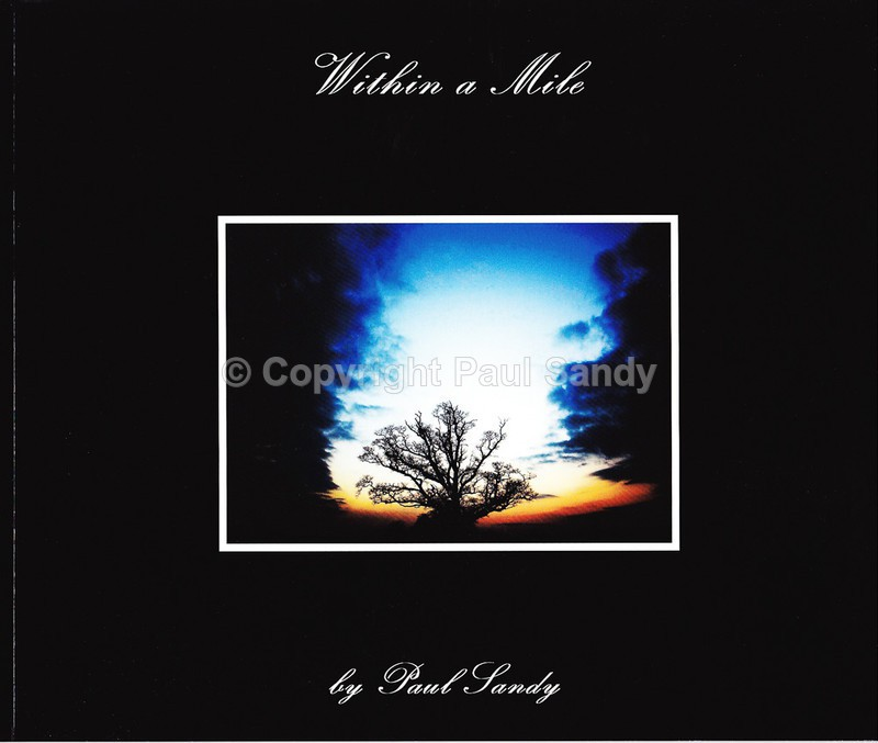Cover of Within a Mile book by Paul Sandy. Green Lane Publishing. - Books and cards
