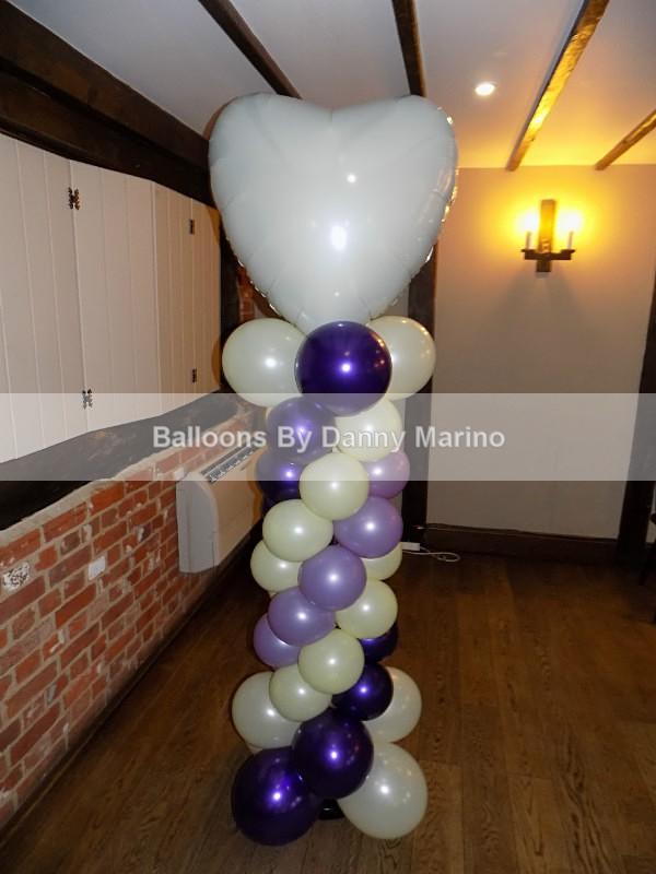 Heart Column Close up - Wedding Balloon Photos